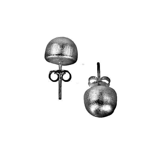 SHEILA FAJL LILOU LITTLE BALL STUD EARRINGS-BRUSHED GUNMETAL