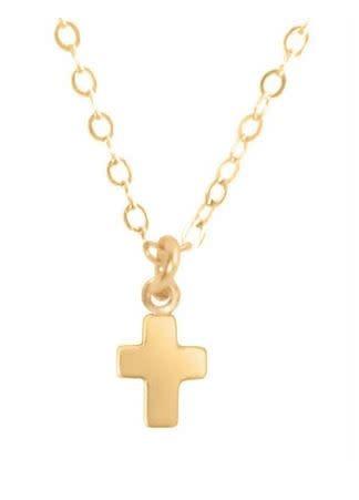"ENEWTON 16"" NECKLACE GOLD- BELIEVE GOLD CHARM"