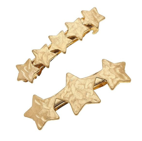 CANVAS NOVA HAIR CLIPS IN WORD GOLD