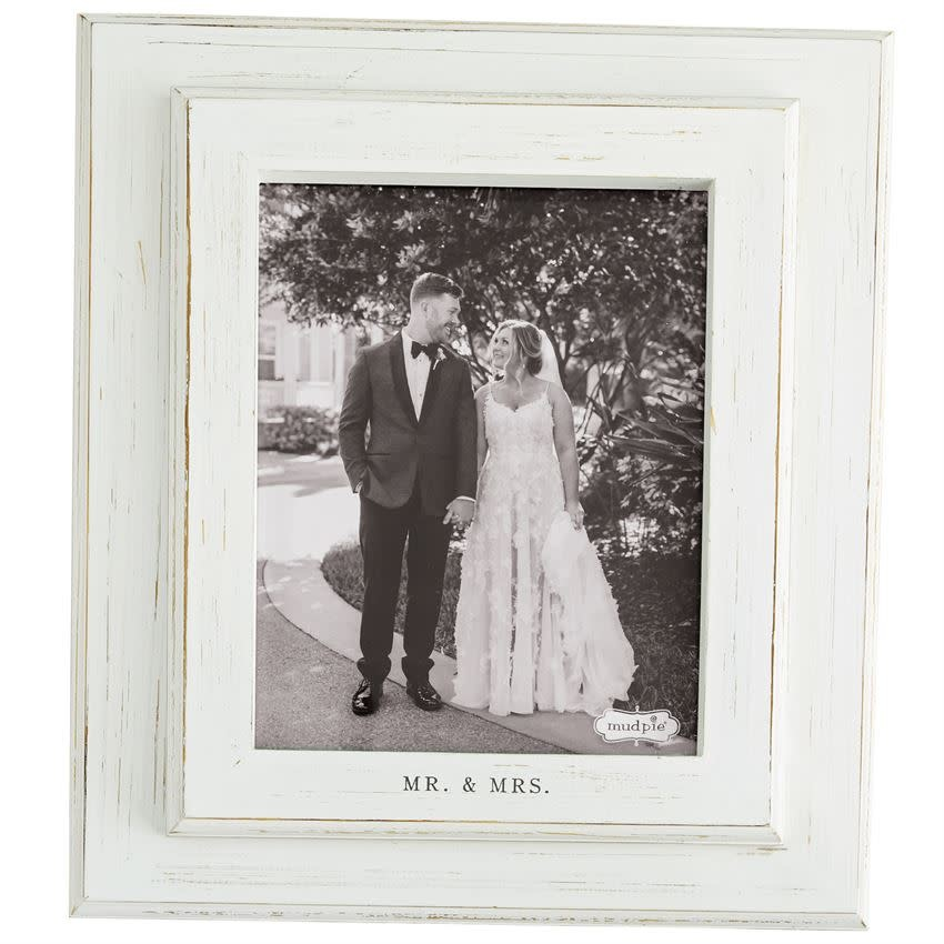 MUD PIE LARGE MR AND MRS FRAME