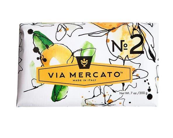 EUROPEAN SOAPS VIA MERCATO NO. 2- GREEN TEA & WHITE MUSK