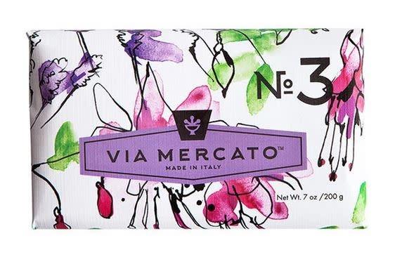 EUROPEAN SOAPS VIA MERCATO NO. 3- PEPE ROSA LAVENDER & VANILLA BEAN