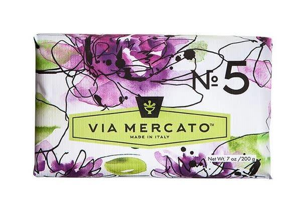 EUROPEAN SOAPS VIA MERCATO NO. 5- WATERLILY & SANDLEWOOD
