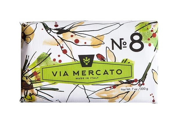 EUROPEAN SOAPS VIA MERCATO NO. 8- CLOVE, VANILLA FLOWER & ORANGE