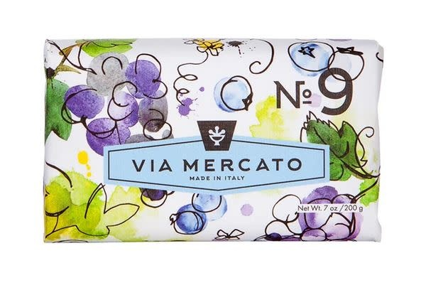 EUROPEAN SOAPS VIA MERCATO NO. 9- GRAPE, BLACK CURRANT & MUSK