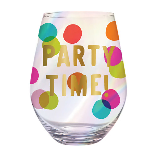 slant collections PARTY TIME 30 OZ WINE GLASS
