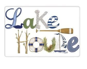 LAKE HOUSE FLOUR SACK TOWEL