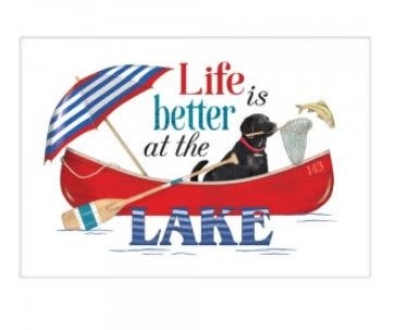 Life is Better at the Lake flour sack towel
