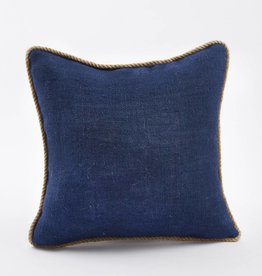 MUD PIE MUDPIE NAVY BURLAP PILLOW