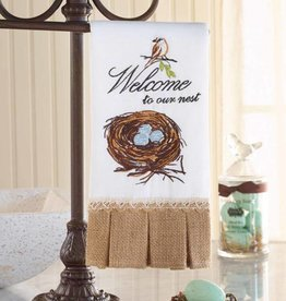 MUD PIE MUDPIE WELCOME TO OUR NEST TOWEL
