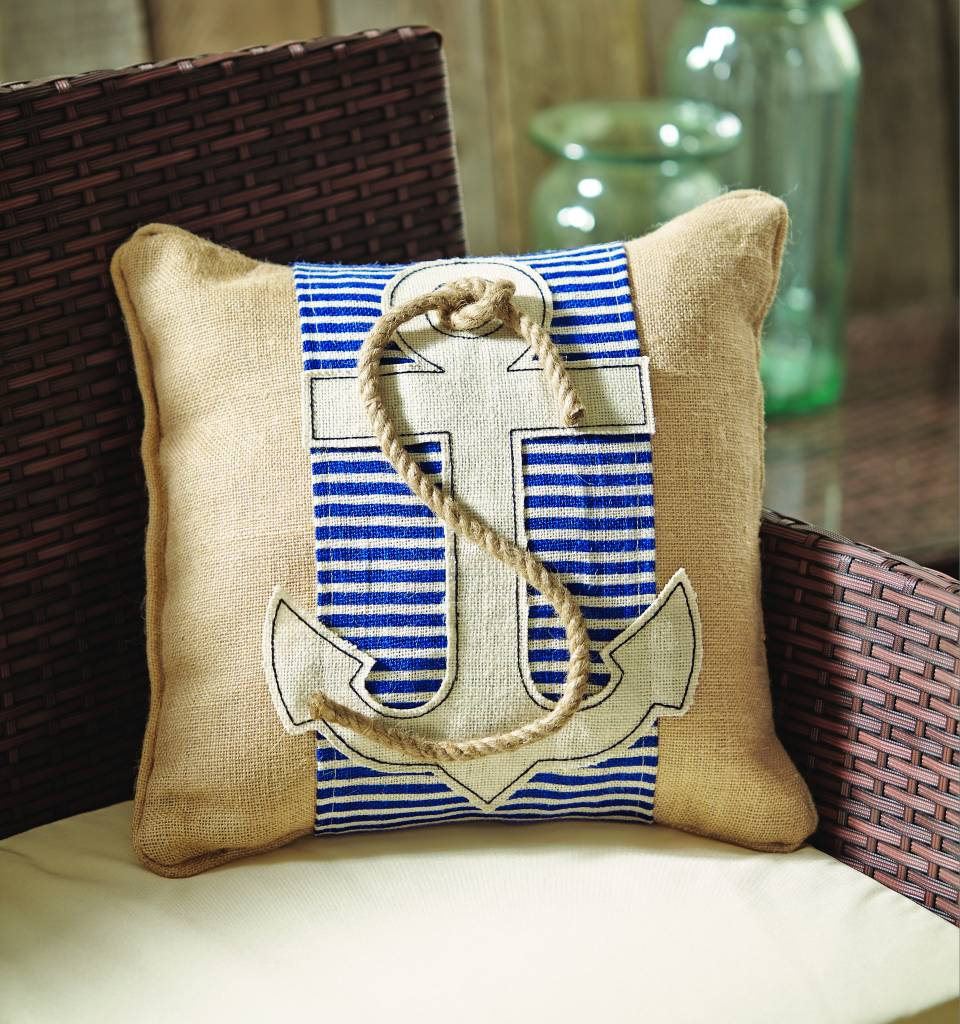 MUD PIE ANCHOR PILLOW WRAP