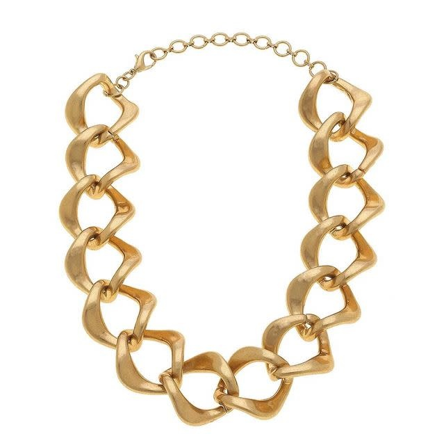 "CANVAS ABELLA STATEMENT NECKLACE, GOLD 14"" ADJUSTABLE"