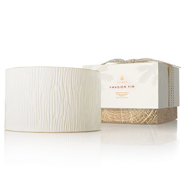 THYMES FRASIER FIR GILDED CERAMIC POURED CANDLE, 3-WICK