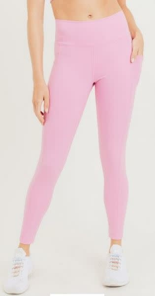 MONO B MACEY HIGHWAIST LEGGINGS -PINK