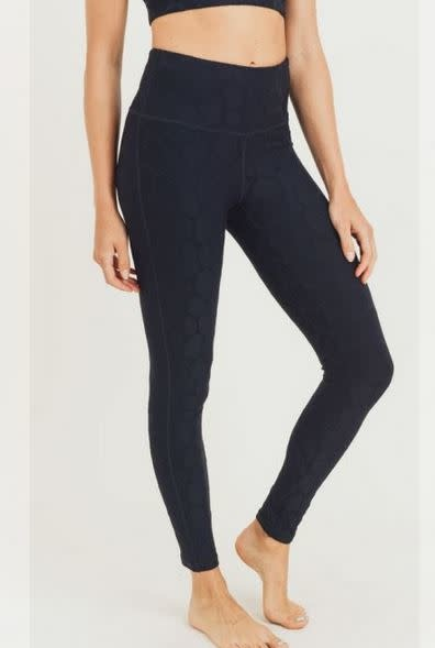 MONO B SAFARI HIGH-WAISTED LEGGINGS- BLACK