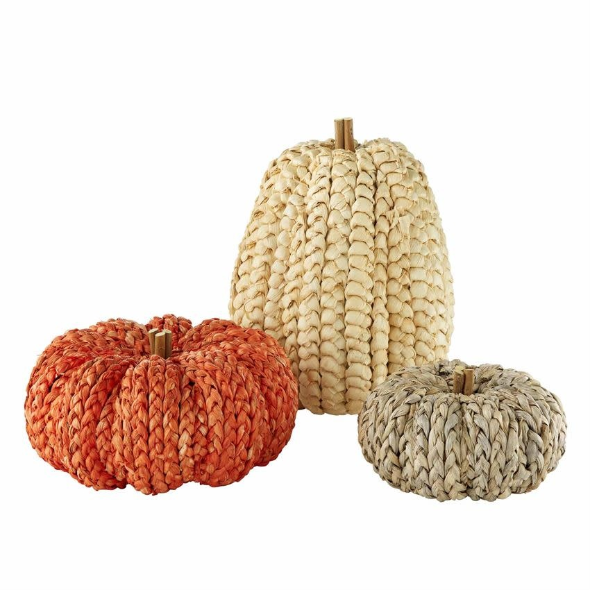 MUD PIE CORN HUSK PUMPKINS