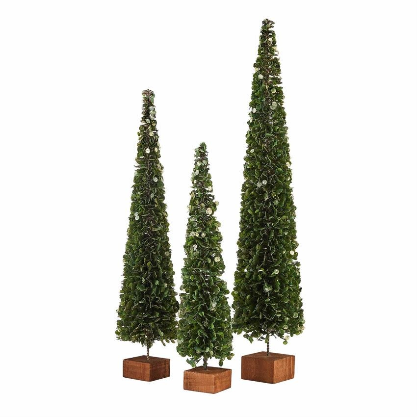 MUD PIE FAUX BOXWOOD TREES