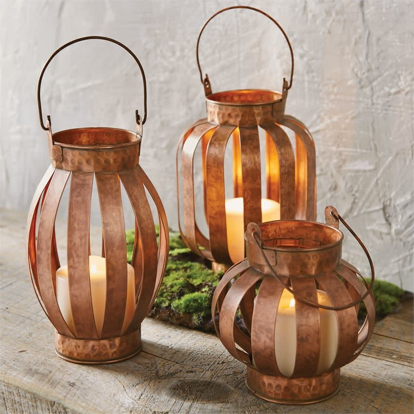 MUD PIE COPPER LANTERNS