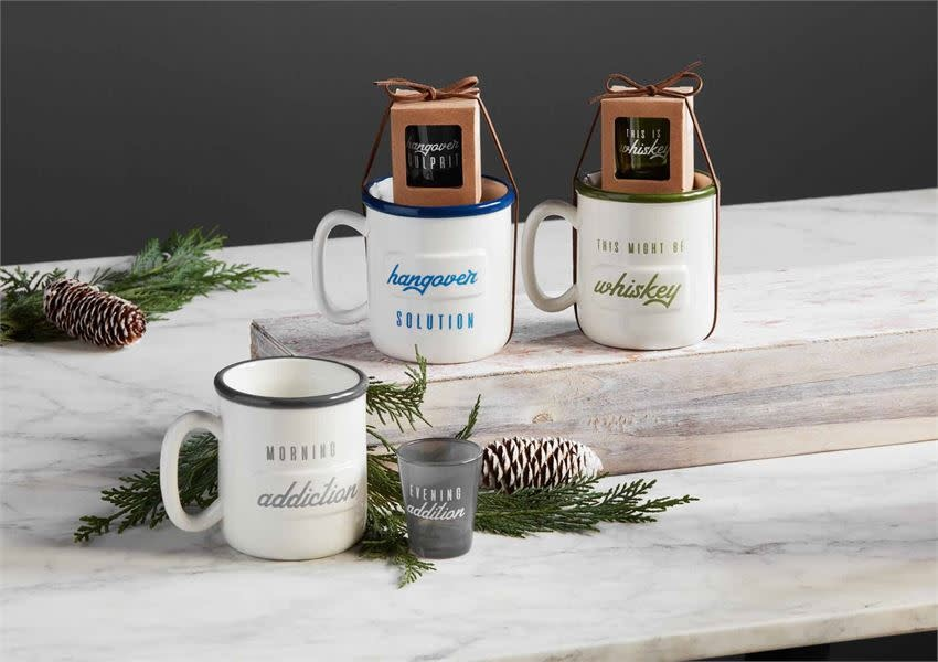 MUD PIE MEN'S MUG & SHOT SETS