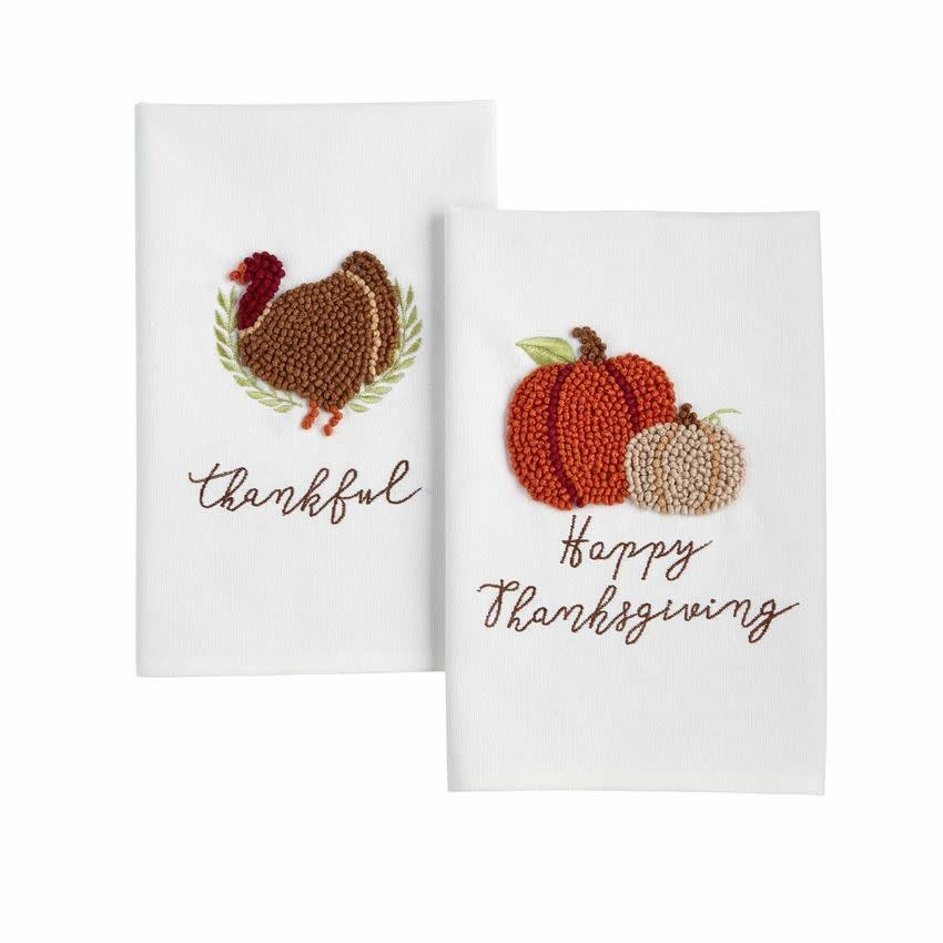 MUD PIE THANKSGIVING KNOTTED TOWEL