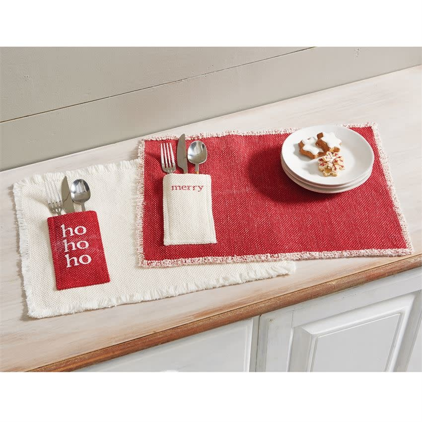 MUD PIE CHRISTMAS DHURRIE PLACEMATS