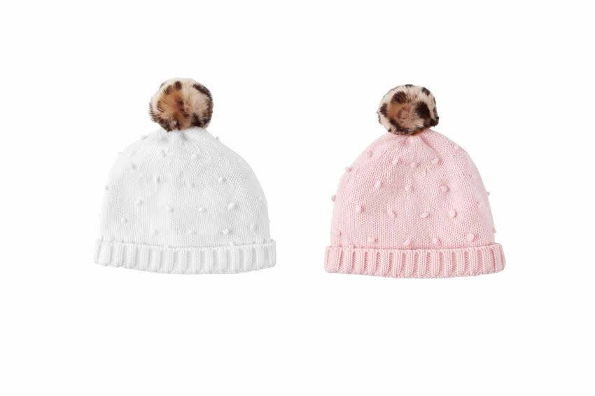 MUD PIE LEOPARD PUFF HATS