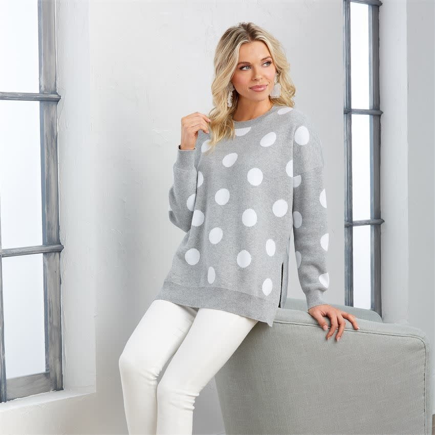 MUD PIE GRACIE POLKA DOT SWEATER