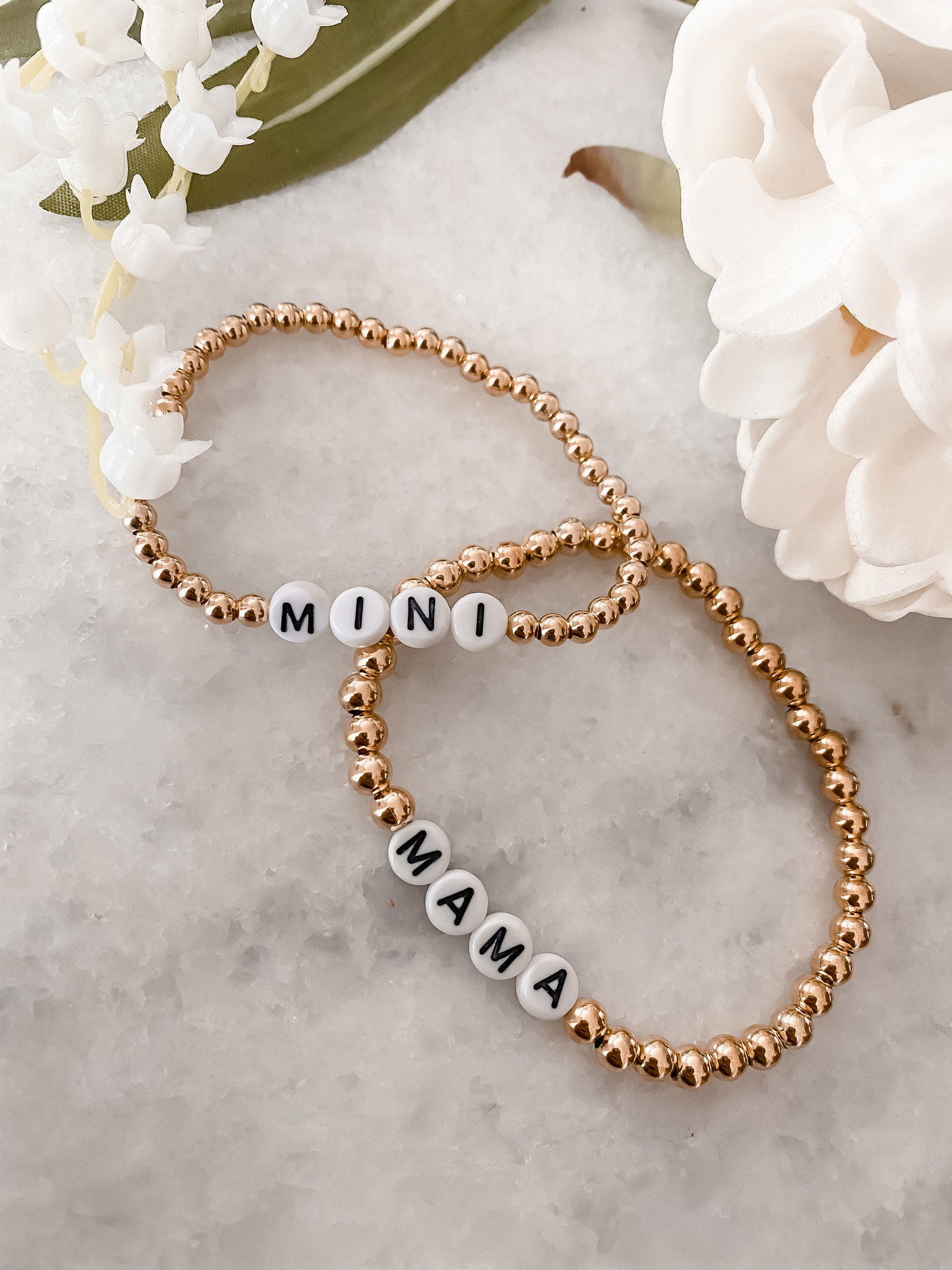 "HALEY ROSE ""MAMA"" & ""MINI"" STRETCH BRACELET SET"