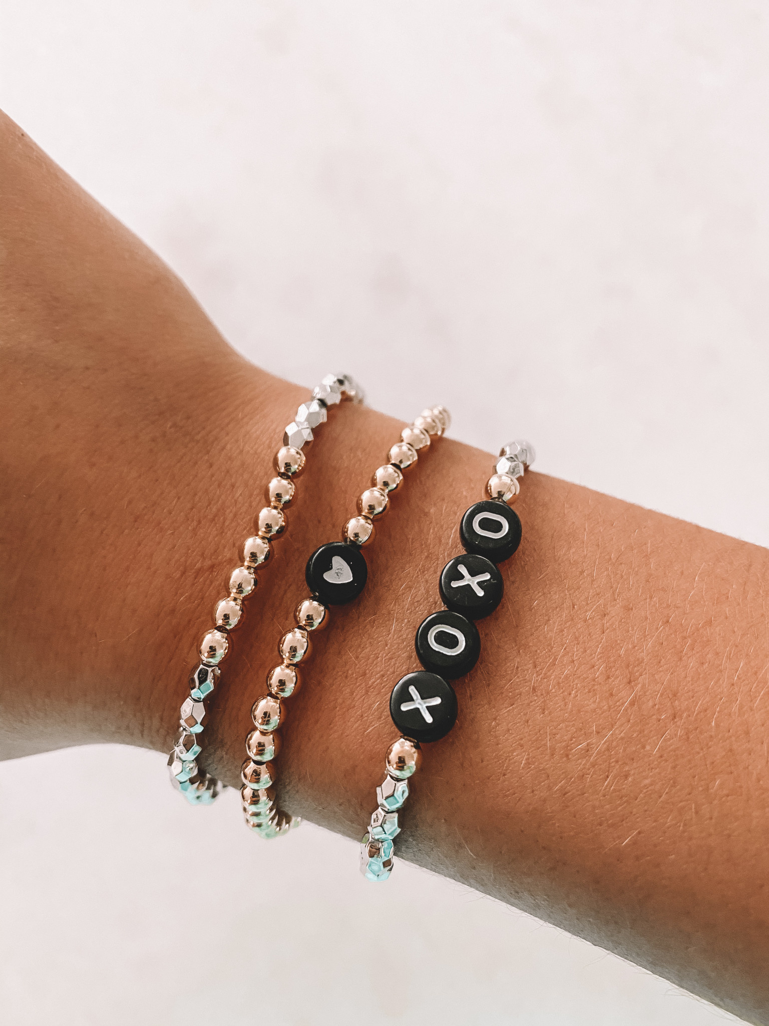 "HALEY ROSE THE ""LOVE"" SHIMMER STACK"