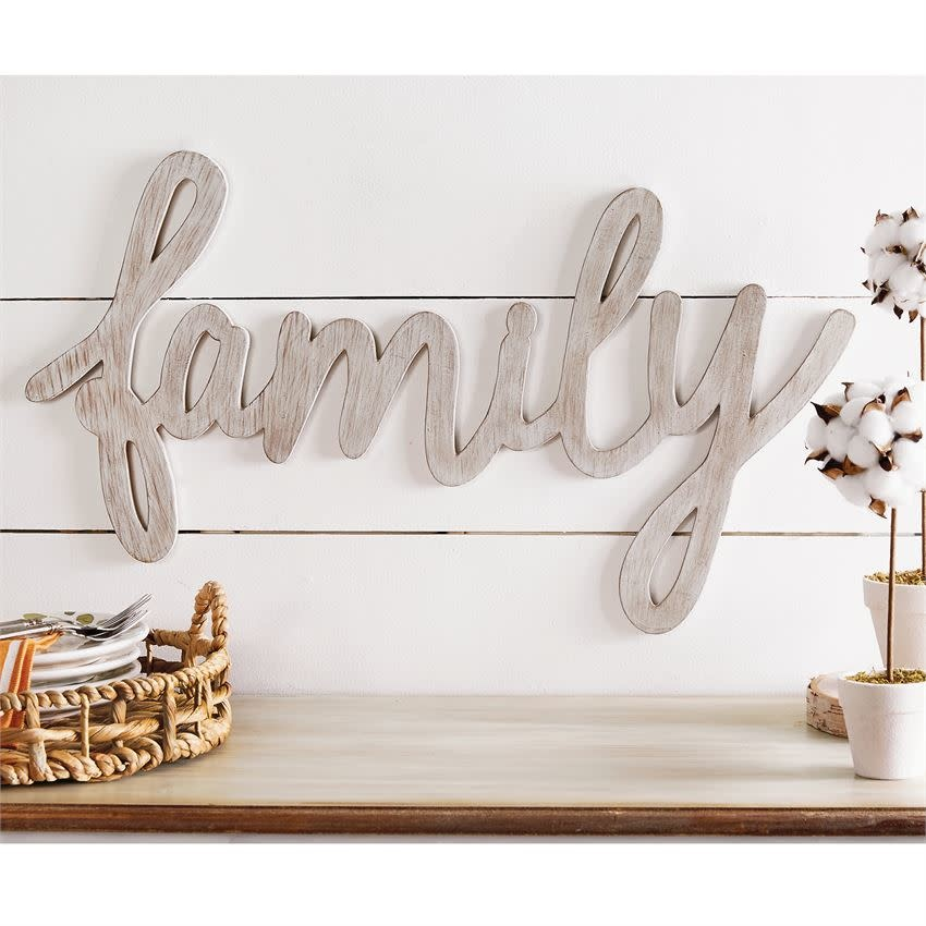 MUD PIE FAMILY WOOD WALL ART
