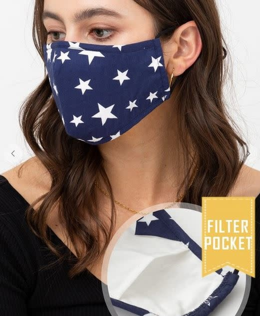 TREND SHOP STAR PRINTED FACE MASK
