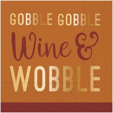 wine and wobble beverage napkin