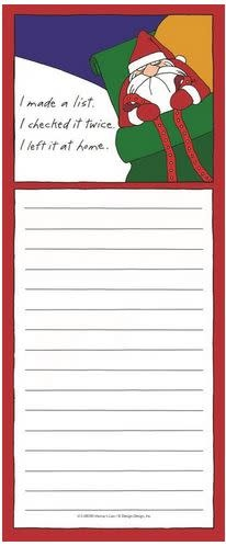 made a list and checked it twice shopping pad