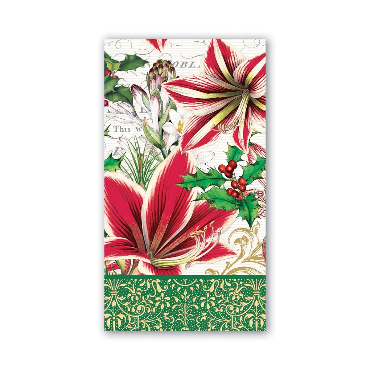MICHEL DESIGN WORKS MERRY CHRISTMAS HOSTESS NAPKIN
