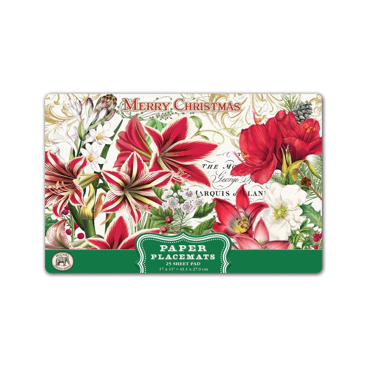 MICHEL DESIGN WORKS MERRY CHRISTMAS PLACEMATS