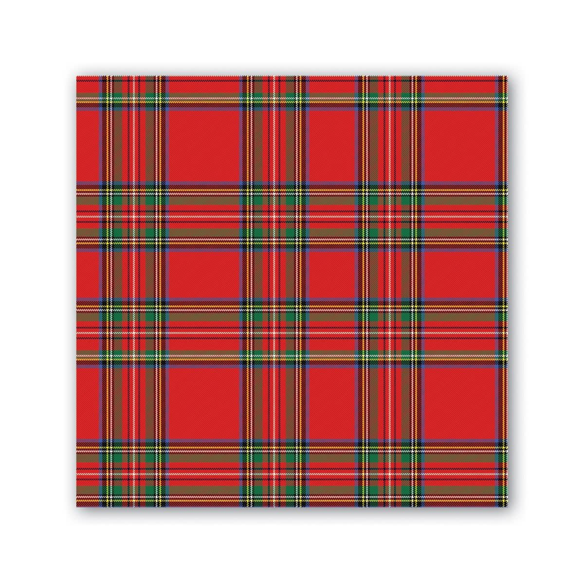 MICHEL DESIGN WORKS TARTAN COCKTAIL NAPKINS