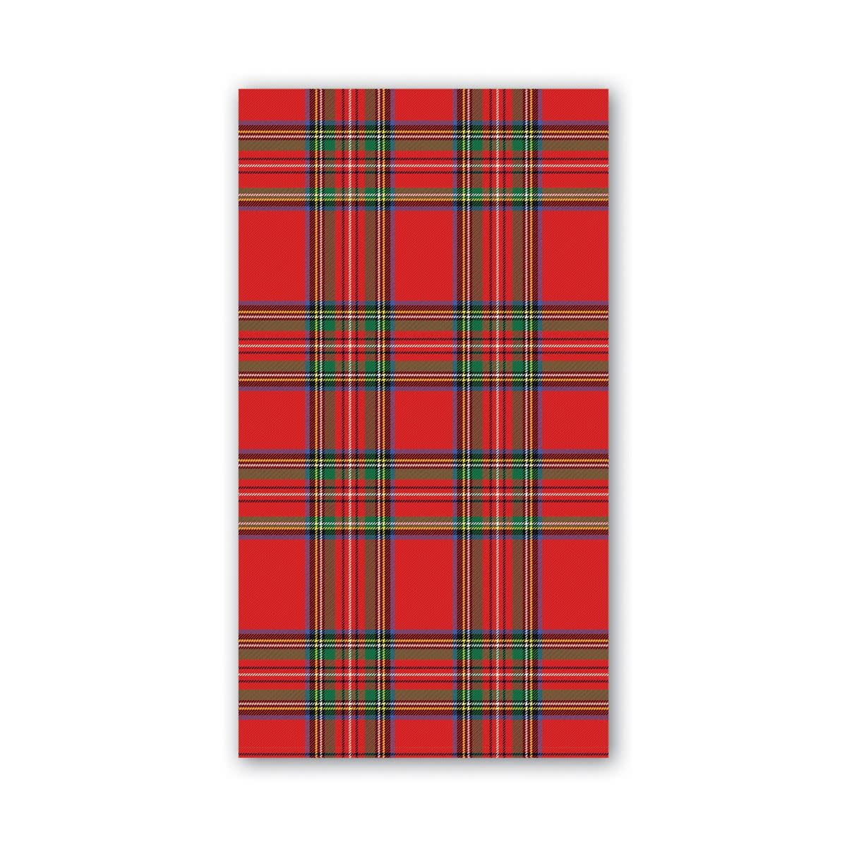 MICHEL DESIGN WORKS TARTAN HOSTESS NAPKINS