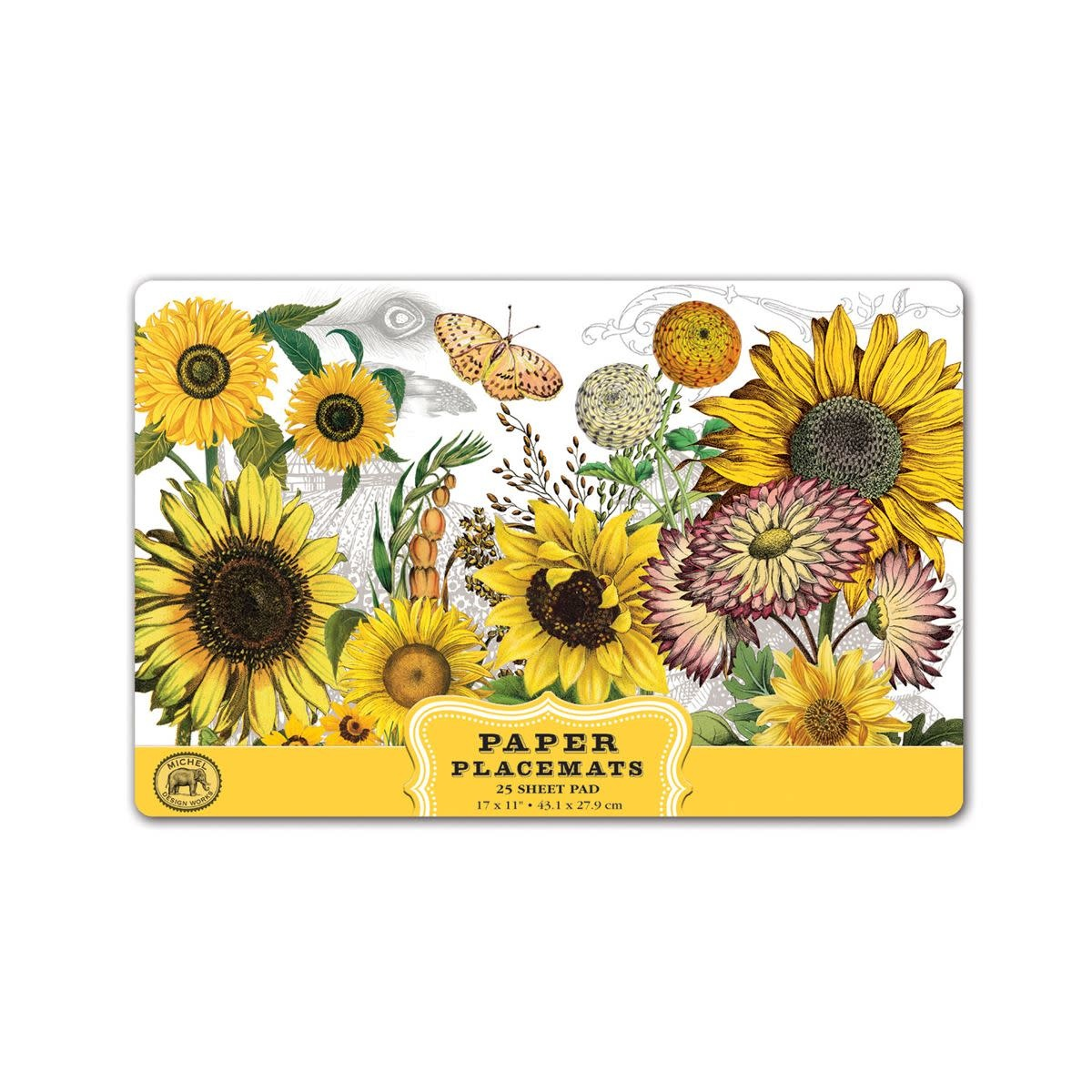 MICHEL DESIGN WORKS SUNFLOWER PLACEMATS