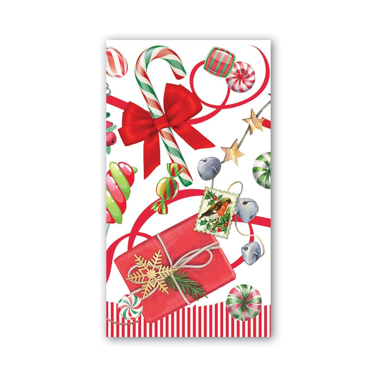 MICHEL DESIGN WORKS PEPPERMINT HOSTESS NAPKINS