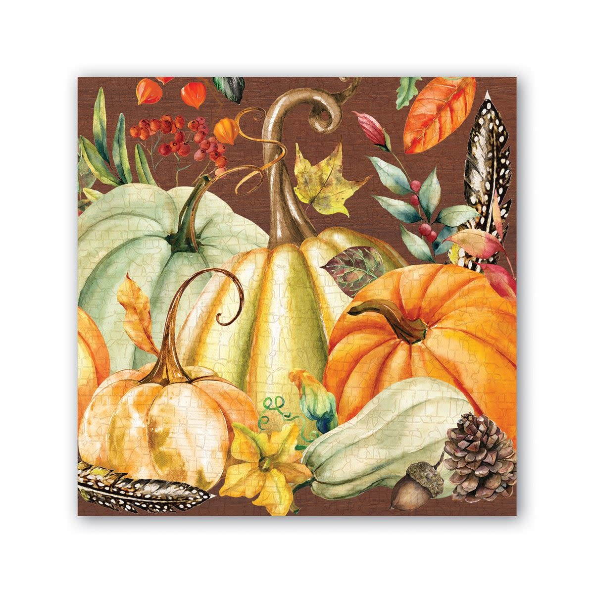 MICHEL DESIGN WORKS SWEET PUMPKIN COCKTAIL NAPKINS