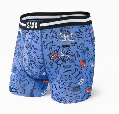 SAXX VIBE BOXER BRIEF - BLUE FIRST AND 10