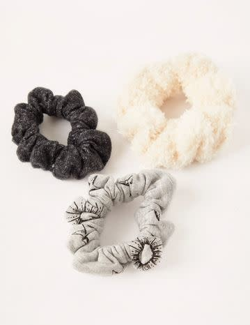 Z SUPPLY 3 PACK SCRUNCHIES- heather gray