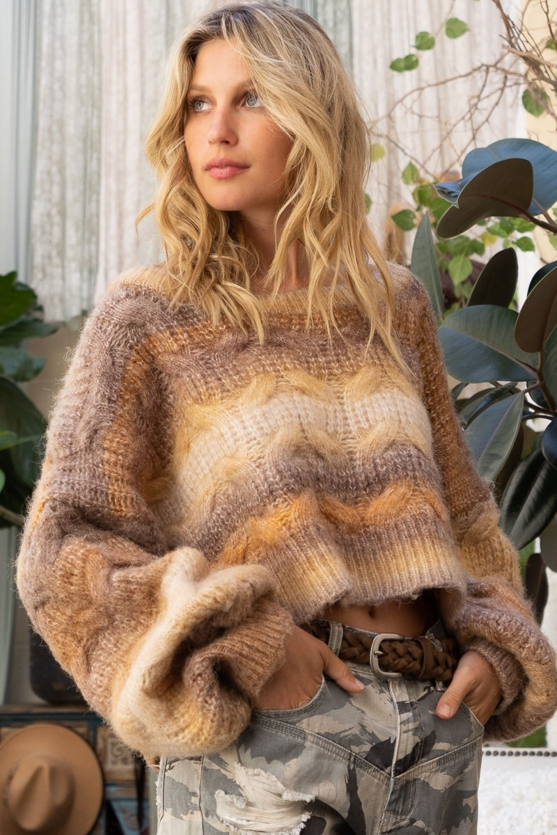 THE CHELSEA SWEATER IN ROASTED SPICE CHESTNUT
