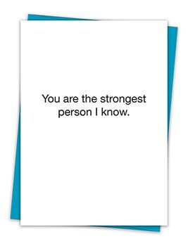 STRONGEST PERSON CARD