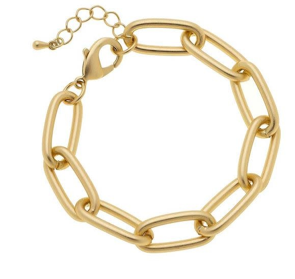 CANVAS LIV CHAIN LINK BRACELET IN MATTE GOLD