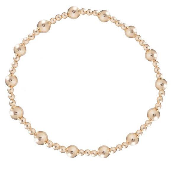 ENEWTON CLASSIC SINCERITY PATTERN 5MM BEAD BRACELET- GOLD