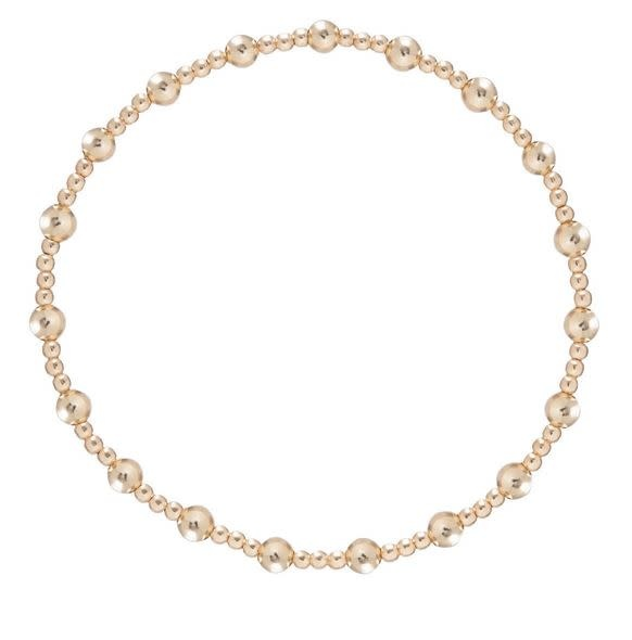 ENEWTON CLASSIC SINCERITY PATTERN 4MM BEAD BRACELET- GOLD