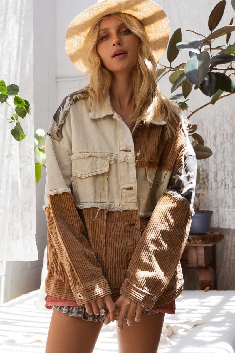 RAINA RUSTIC PATCH JACKET