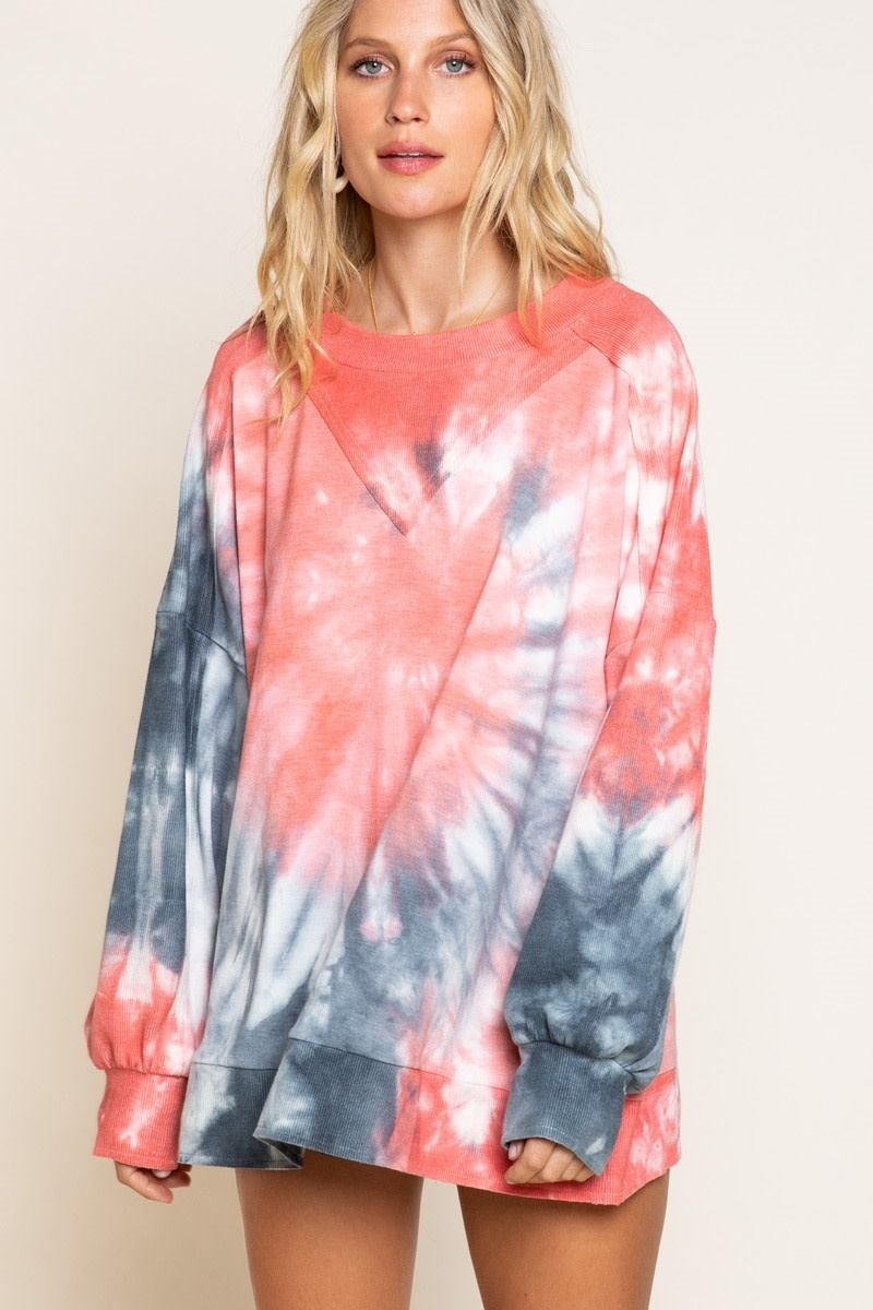 FRENCH TERRY OVERSIZED TIE DYE