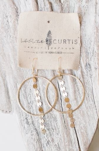 LESLIE CURTIS JEWELRY MAREN GOLD DANGLE EARRINGS